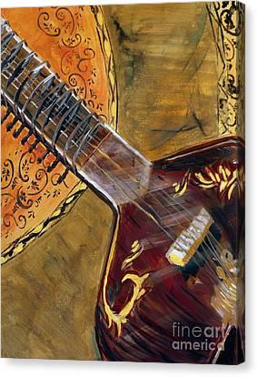 Sitar 3 Canvas Print by Amanda Dinan