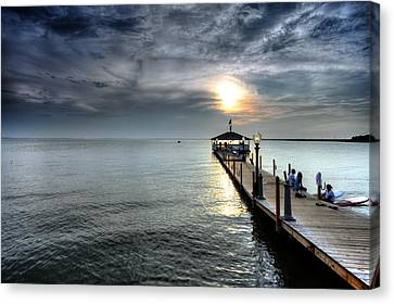 Sittin On The Dock Of The Bay Canvas Print