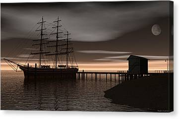 Sitting At The Dock Of The Bay Canvas Print by Walter Colvin