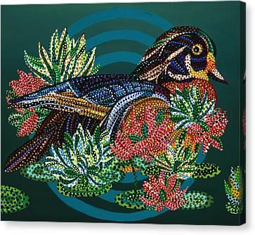 Sitting Duck Canvas Print by Erika Pochybova