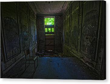 Sitting In Darkness Canvas Print by Nathan Wright
