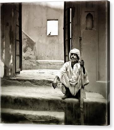 Sitting On Stairs Canvas Print by Mostafa Moftah