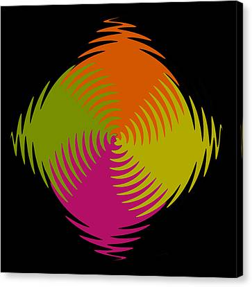 Canvas Print featuring the photograph Six Squared Zigzag by Steve Purnell