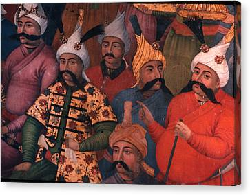 Six Sultans In Iran Canvas Print by Carl Purcell