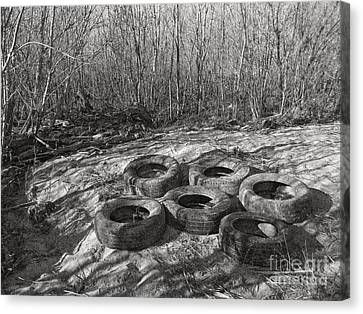 Six Tires Canvas Print by Janeen Wassink Searles