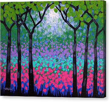 Curtains Canvas Print - Six Trees by John  Nolan