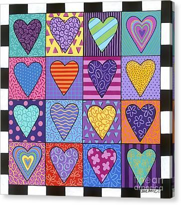 Sixteen Hearts Canvas Print by Carla Bank