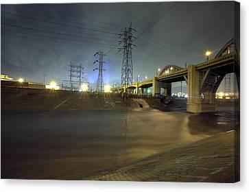 Sixth Street Storm Canvas Print by Kevin  Break