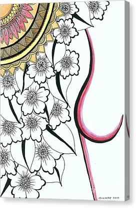 Sizzle Canvas Print by Billinda Brandli DeVillez