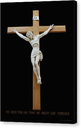 Sjncc Crucifix 1 Two K Eleven Canvas Print by Carl Deaville