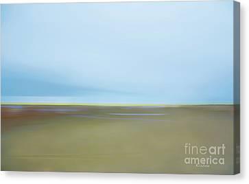 Skaket Tidal Flats Canvas Print by David Klaboe