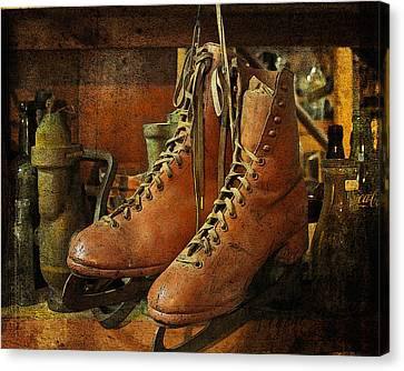 Skates Canvas Print by Karen Lynch