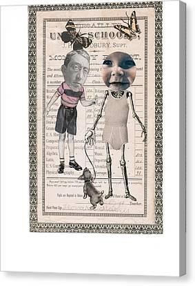Skelatal Report Card Canvas Print