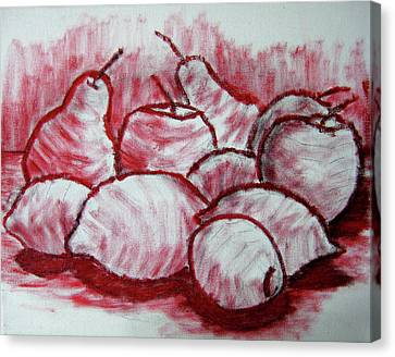 Sketch - Tasty Fruits Canvas Print by Kamil Swiatek