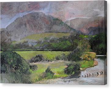 Sketch Near Aberystwyth Canvas Print