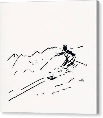 Skier IIi Canvas Print by Winifred Kumpf