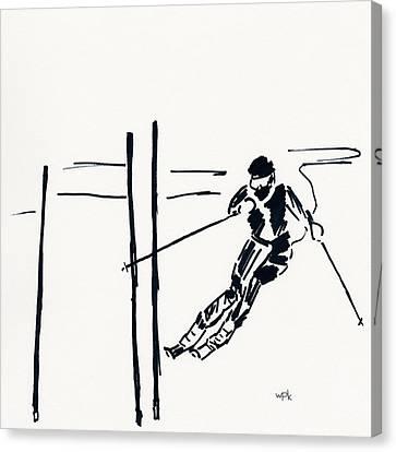 Skier Vi Canvas Print by Winifred Kumpf