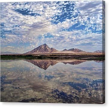 Canvas Print featuring the photograph Skies Illusion by Tammy Espino