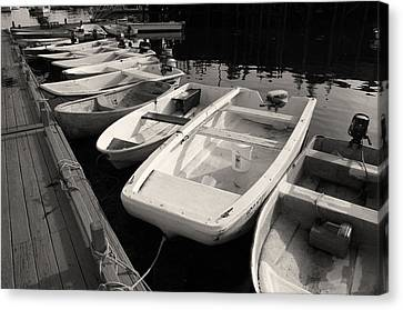 Skiffs And Dinghies Canvas Print by David Rucker