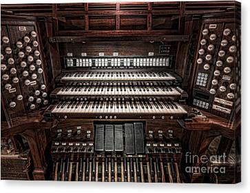 Skinner Pipe Organ Canvas Print by Clarence Holmes