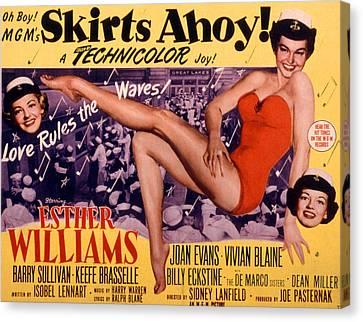 Fid Canvas Print - Skirts Ahoy, Vivian Blaine, Esther by Everett