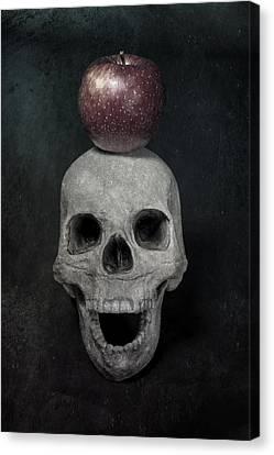 Skull And Apple Canvas Print by Joana Kruse