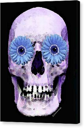 Skull Art - Day Of The Dead 3 Canvas Print