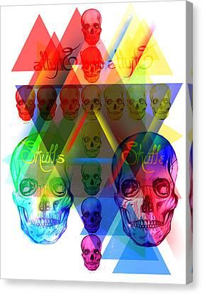Skulls Illuminate Skulls Canvas Print by Kenal Louis