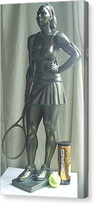 Skupture Tennis Player Canvas Print by Zlatan Stoilov