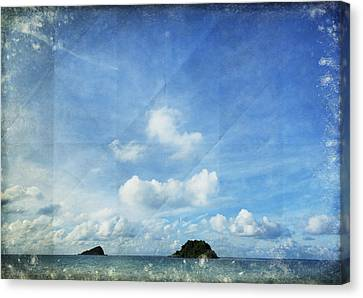 Sky And Cloud On Old Paper Canvas Print by Setsiri Silapasuwanchai
