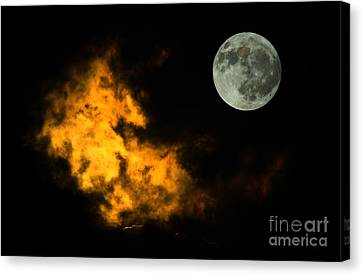 Sky And Moon Canvas Print by Odon Czintos