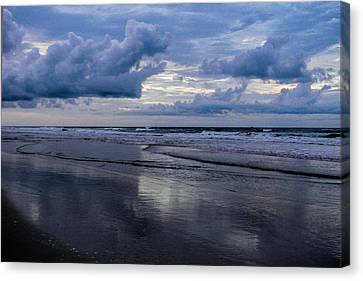 Sky And Shore Canvas Print by Christy Usilton