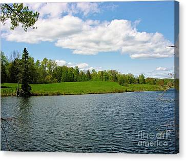Canvas Print featuring the photograph Sky And Water Almost Meet by Sherman Perry