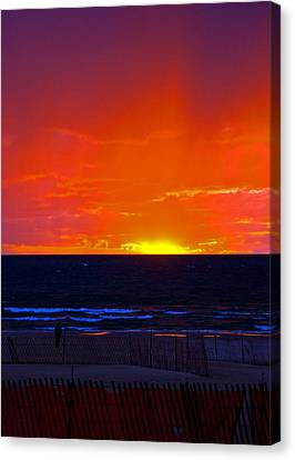 Canvas Print featuring the photograph Sky Fire by Randall  Cogle