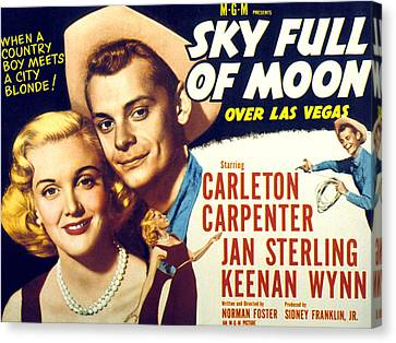 Sky Full Of Moon, Jan Sterling Canvas Print by Everett