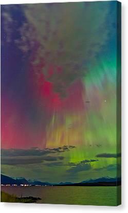Sky Full Of North Light Canvas Print by Frank Olsen