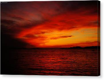 Sky In Flames Canvas Print by Yuriy Klimanov