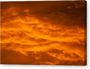 Sky Of Fire Canvas Print by Colleen Coccia