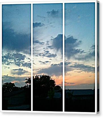#sky #sunset #clouds #andrography Canvas Print by Kel Hill
