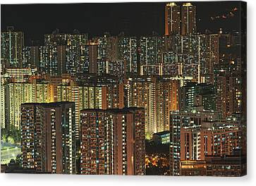 Skyline At Night Canvas Print by Ryan Cheng Photography