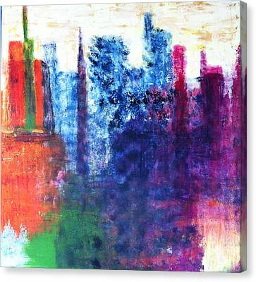 Canvas Print featuring the painting Skyline by Kristine Bogdanovich