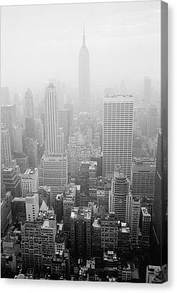 Skyline Of Lower Manhattan, New York City, New York, Usa Canvas Print by Aaron Johnston