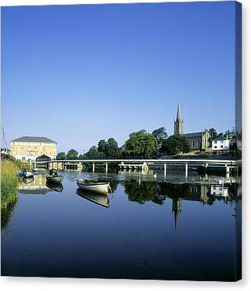 Skyline Over The River Garavogue, Sligo Canvas Print by The Irish Image Collection