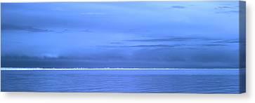 Canvas Print featuring the photograph Skyline Salton Sea by Hugh Smith