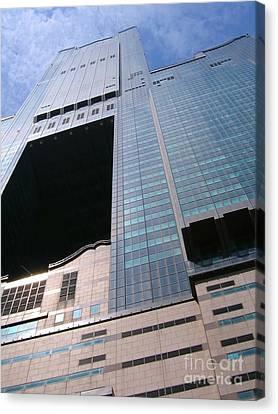 Skyscraper View Canvas Print by Yali Shi