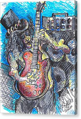 Slash Distortion  Canvas Print by Jon Baldwin  Art
