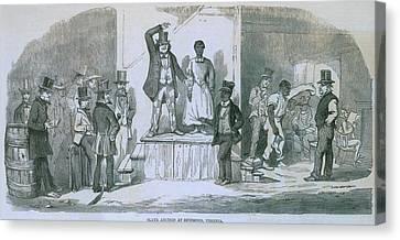 Slave Auction In Richmond, Virginia Canvas Print by Everett