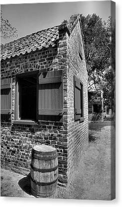 Slave Cabins Canvas Print