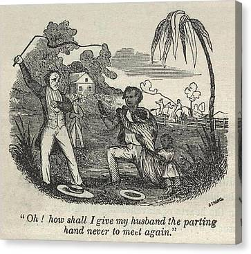 Slave Henry Bibb Begs For His Family Canvas Print by Everett