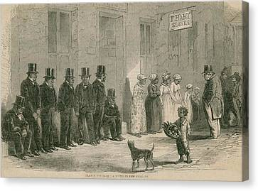 Slaves For Sale In New Orleans In April Canvas Print by Everett